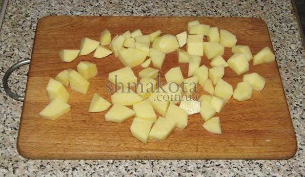 Порезаный картофель