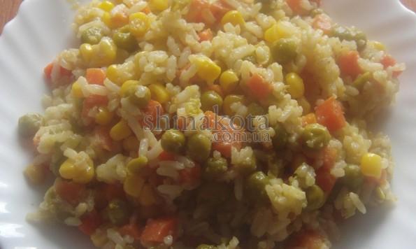 Пряний рис з овочами