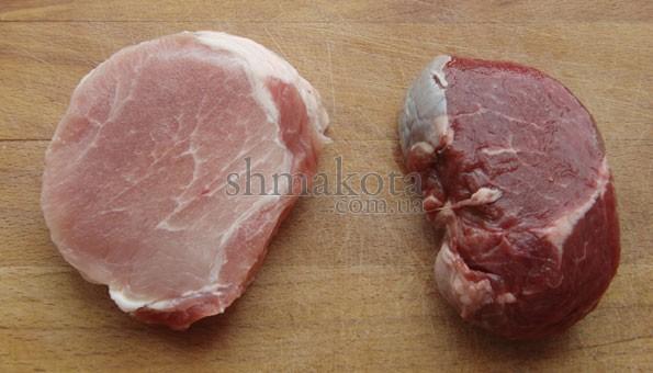 Яловичина та свинина