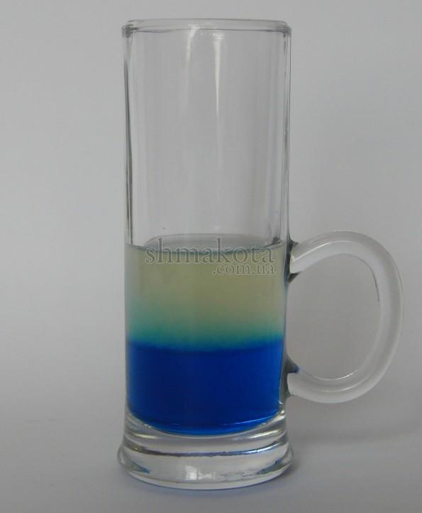 Голубой Кюрасао и лимонный сок