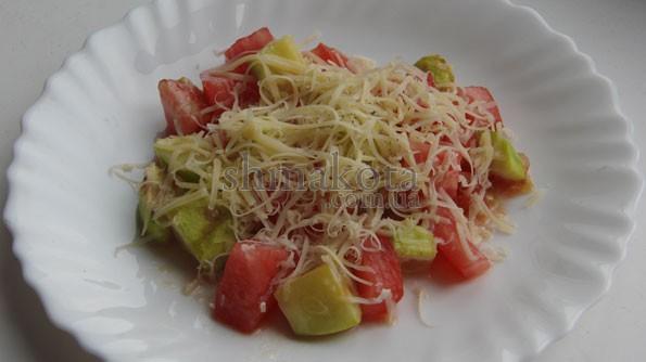 Салат с кабачками и помидорами