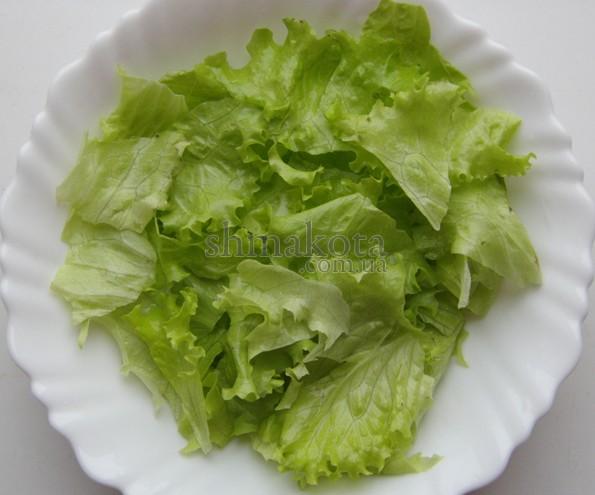 Клаптики салату-латуку