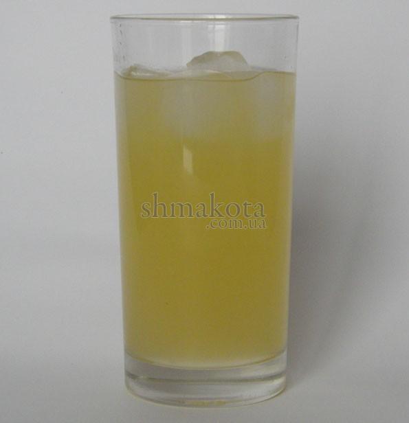 Джин, апельсиновый сок, сахарный сироп и сок лимона