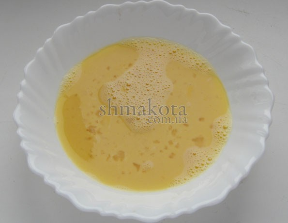 Яйца, взболтанные с молоком