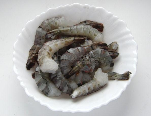Чищеные креветки
