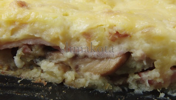 Запіканка з картопляного пюре